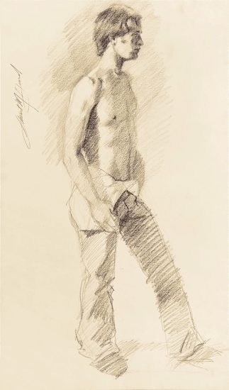 Mark Beard, Untitled (Man Undressing)
