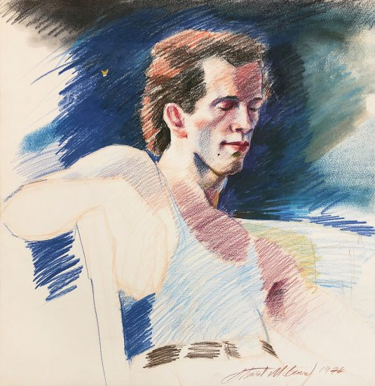 Mark Beard, Untitled (Man in Blue Tank Top)