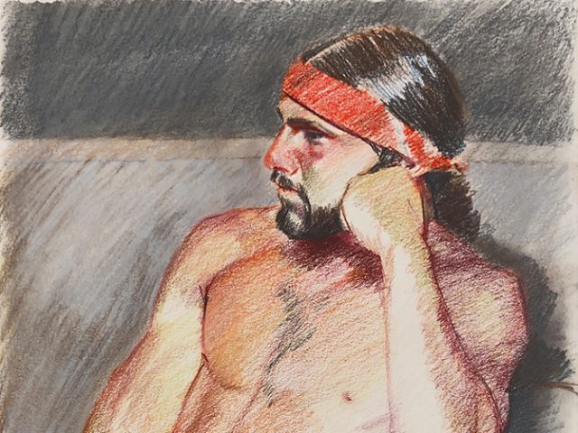 Mark Beard, Untitled (Nude Man in Red Headband)
