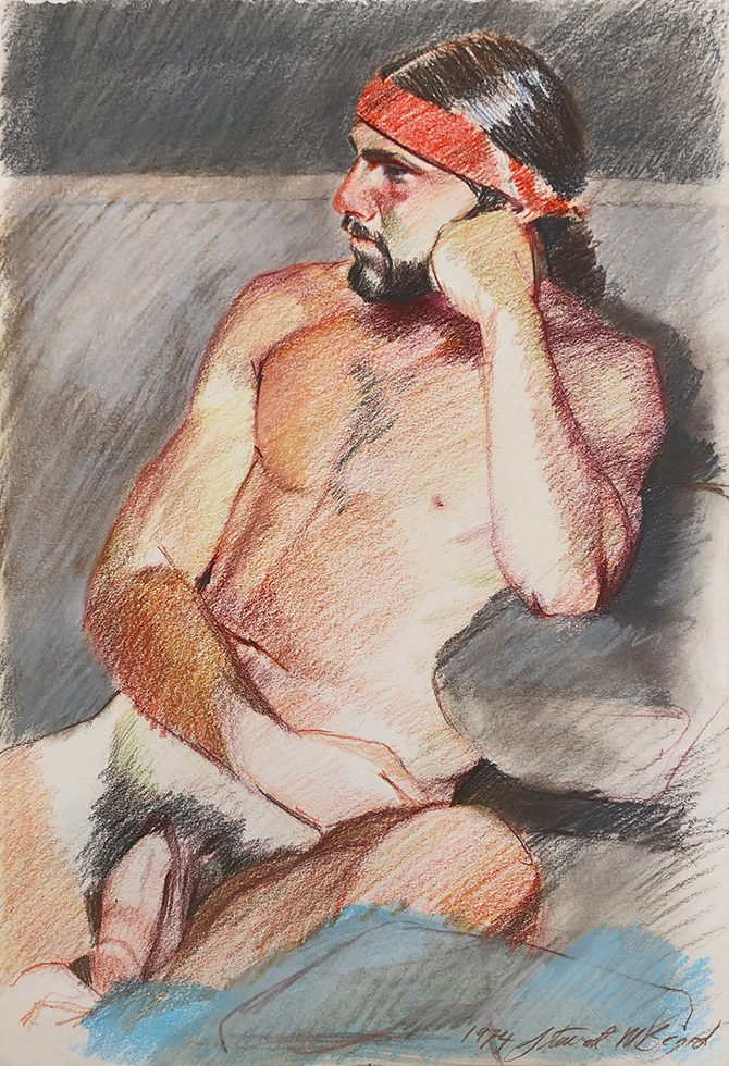 Untitled (Nude Man in Red Headband)