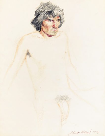 Mark Beard, Untitled (Nude Man with Black Hair)