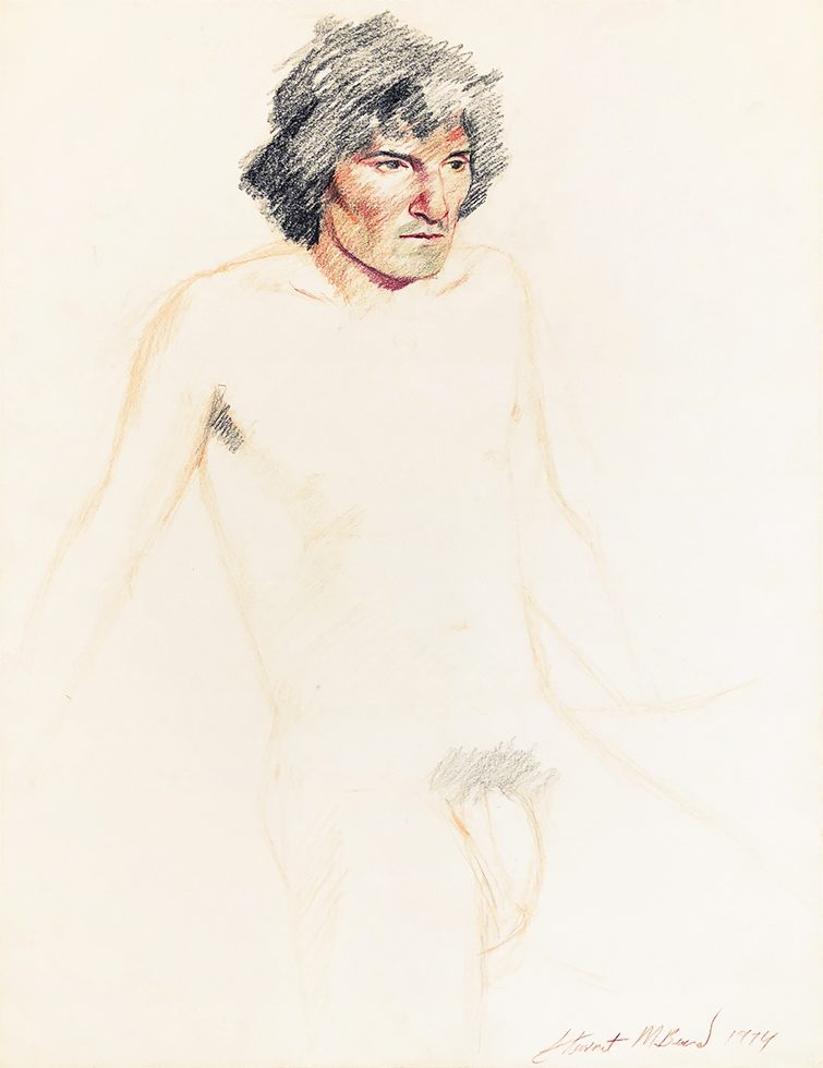 Untitled (Nude Man with Black Hair)