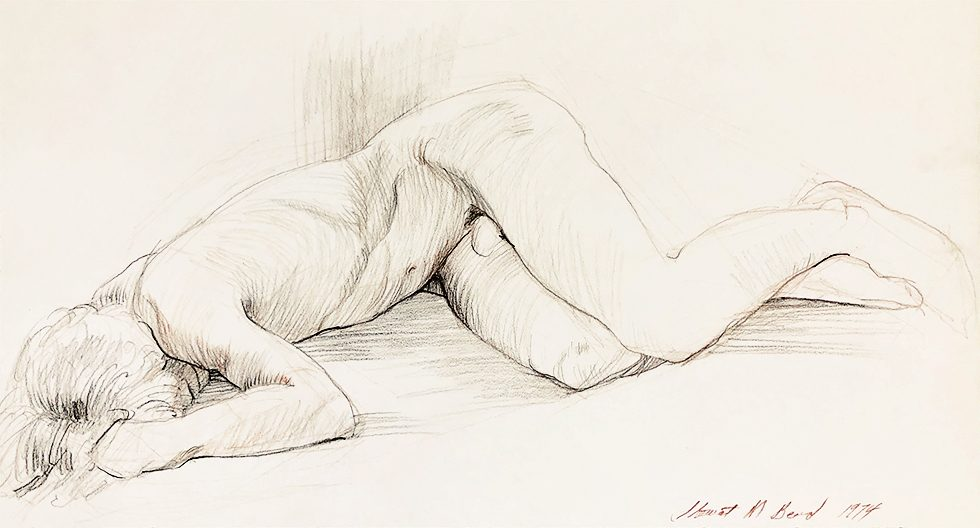 Untitled (Recumbent Male Nude with Face Hidden)
