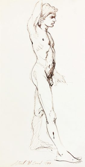 Mark Beard, Untitled (Standing Male Nude Facing Right)