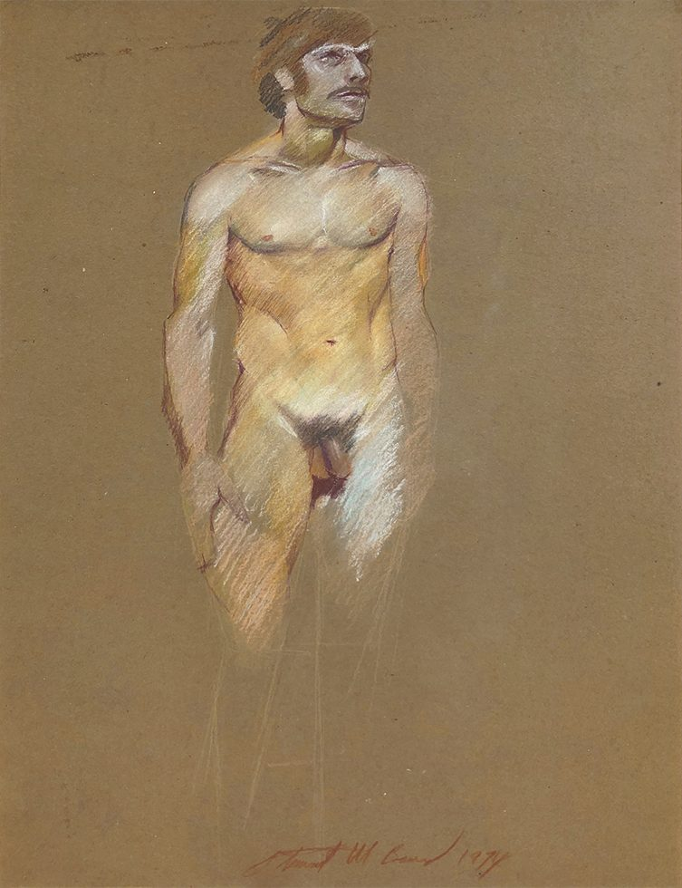 Untitled (Standing Male Nude with Sideburns)