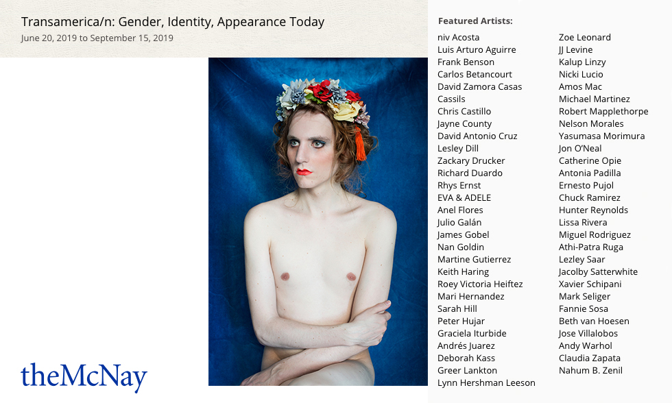 "Lissa Rivera in ""Transamerica/n: Gender, Identity, Appearance Today"" at the McNay Art Museum"