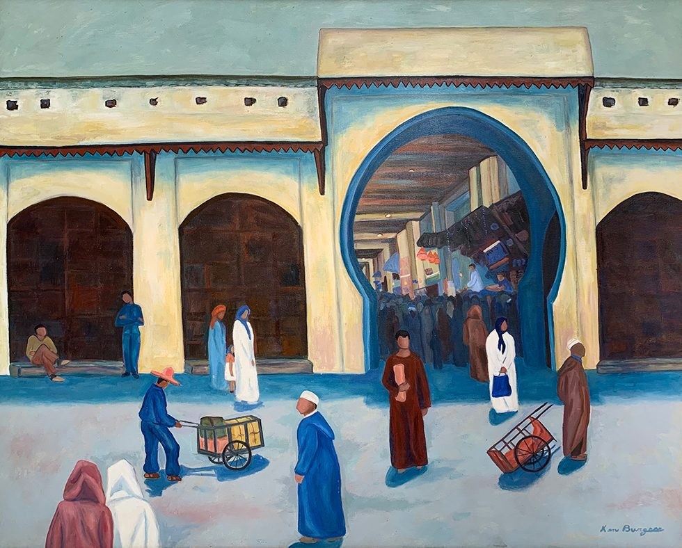 "Kenny Burgess, ""A Square Outside Meknes"""