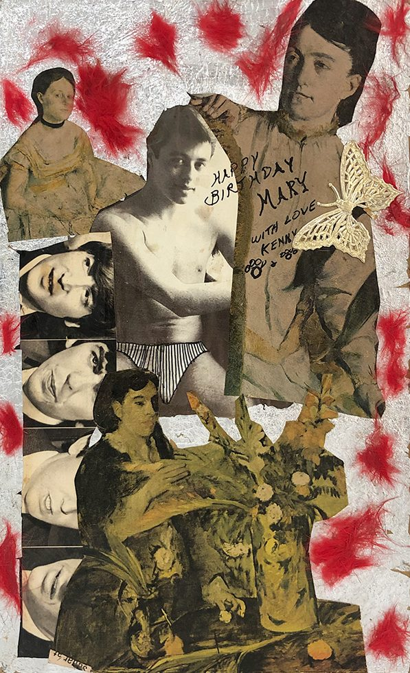 "Kenny Burgess, ""Untitled (Birthday collage to Mary Boylan from Kenny Burgess)"""