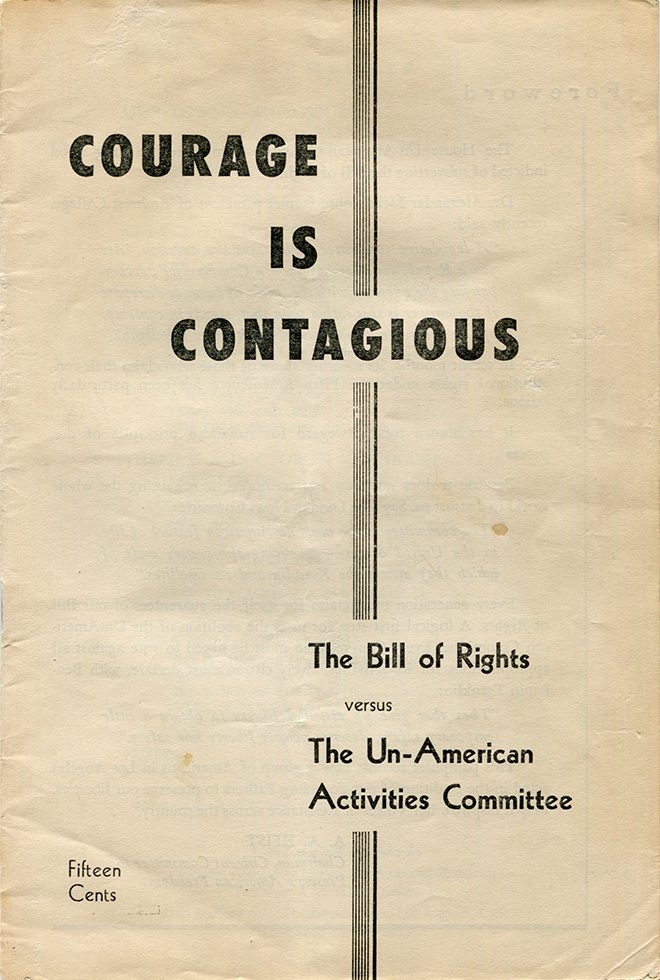 The Bill of Rights Versus the Un-American Activities Committee