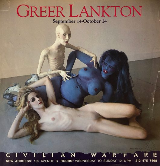 Greer Lankton, Civilian Warfare Exhibition Poster