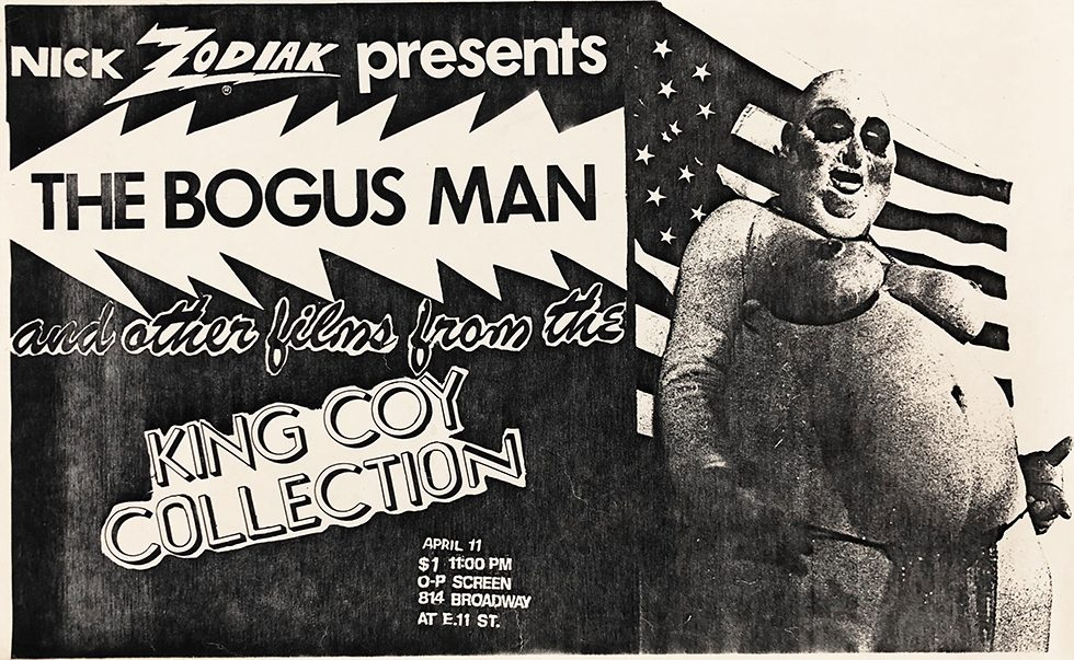 "O-P Screen Poster for ""'The Bogus Man' and other films from the King Coy Collection"""