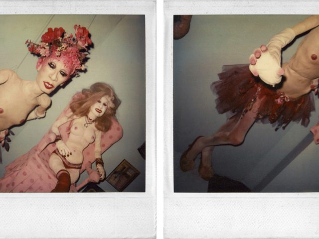 Greer Lankton, Untitled (Two Female Dolls) and Untitled (Topless Woman in a Tutu)