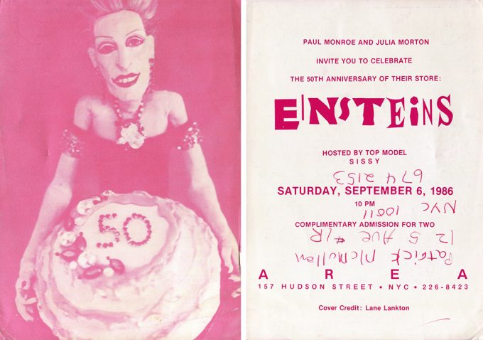 Greer Lankton, Invitation to Einstein's 50th Anniversary Party