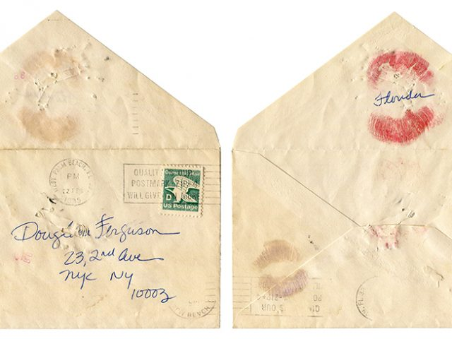 Greer Lankton, Envelope addressed to Douglas Furguson