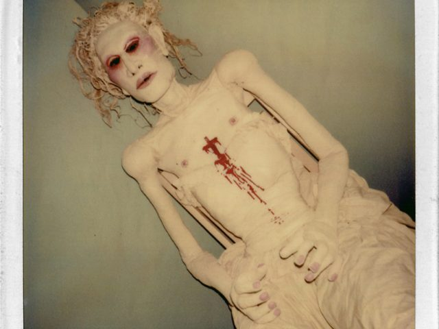 Greer Lankton, Untitled (Seated Doll with Blood on Chest)