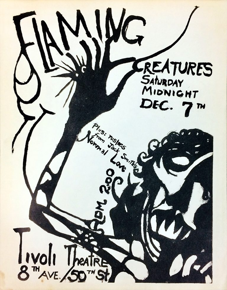 """Flaming Creatures"" flyer"