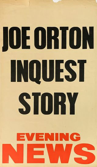 Evening News [London], Joe Orton Inquest Story