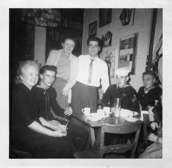 Unknown Photographer, Untitled (Mary Boylan, Robert Dahdah, and Three Sailors)