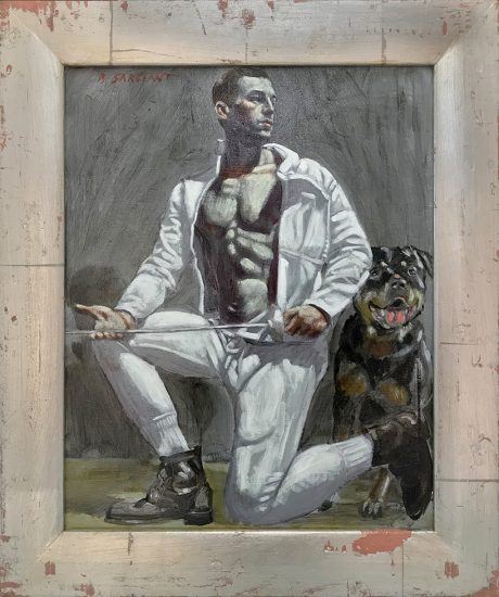 Mark Beard, [Bruce Sargeant (1898-1938)] Fencer with Dog