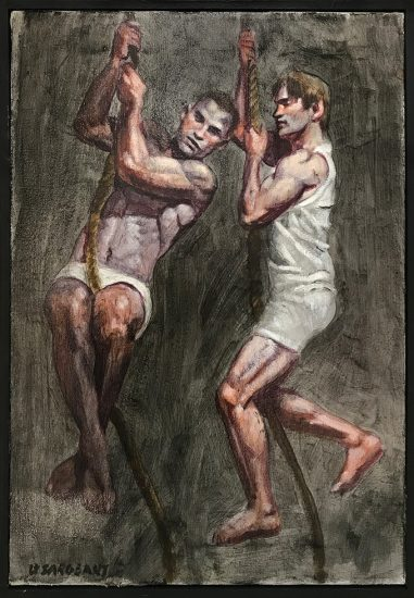 Mark Beard, [Bruce Sargeant (1898-1938)] Two Men on Ropes