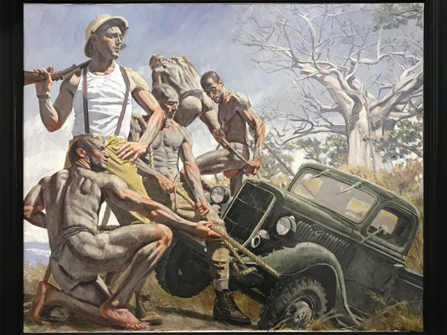 Mark Beard, [Bruce Sargeant (1898-1938)] Unidentified Hunter Overseeing Removal of His Truck from the Mud