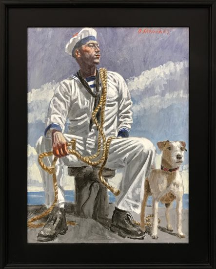 Mark Beard, [Bruce Sargeant (1898-1938)] Seated Sailor with Dog