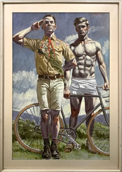 Mark Beard, [Bruce Sargeant (1898-1938)] Scout with Cyclist