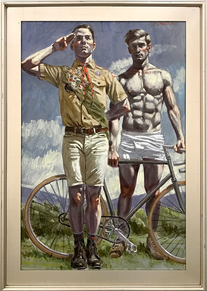 [Bruce Sargeant (1898-1938)] Scout with Cyclist