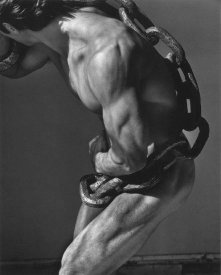 Herb Ritts, Man with Chain, Los Angeles