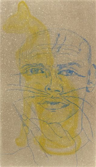 Francesco Clemente, Untitled (Self Portrait as a Cat)