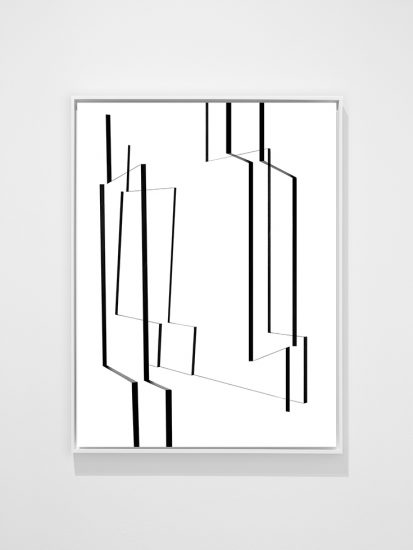 Joseph Desler Costa, Black Tape White Board I