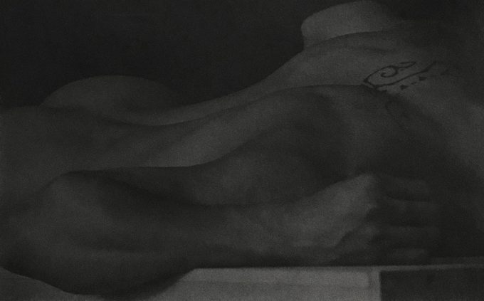 Anderson & Low, Untitled (Figure Lying on Block, Back View with Tattoo)
