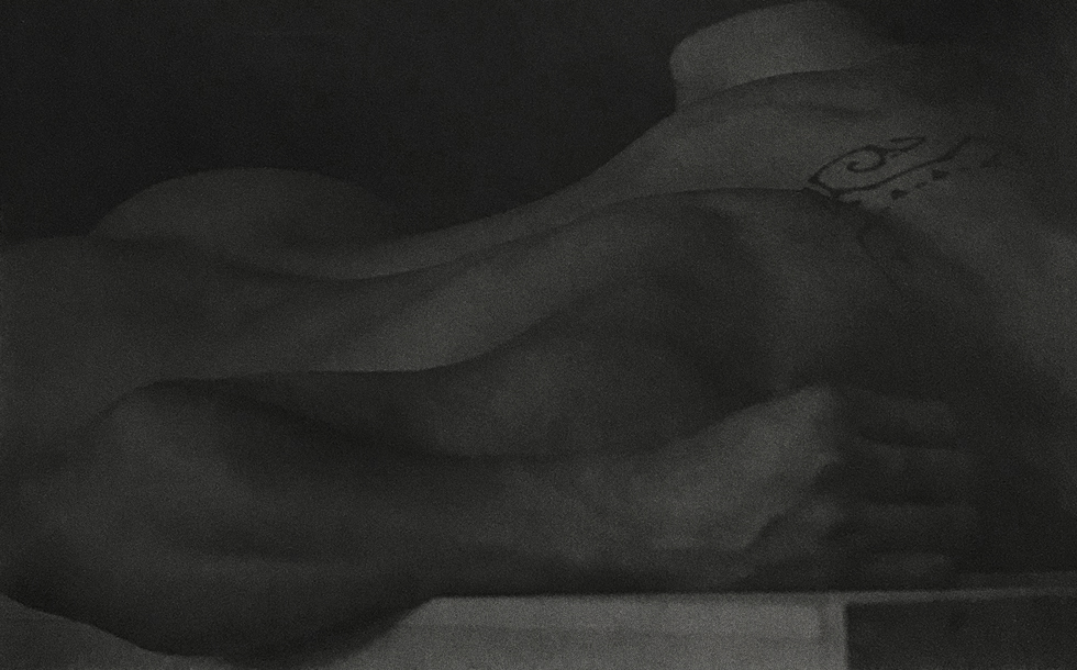"Anderson & Low, ""Untitled (Figure Lying on Block, Back View with Tattoo)"""