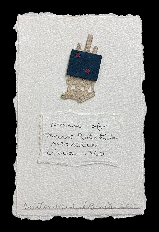 snip of Mark Rothko's necktie, circa 1960