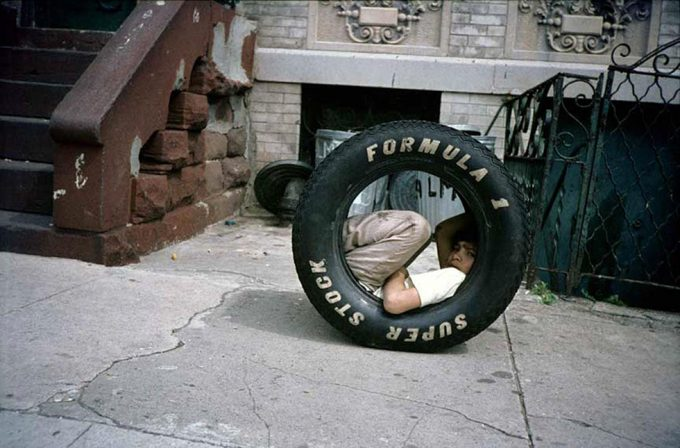 Meryl Meisler, Boy in a Tire