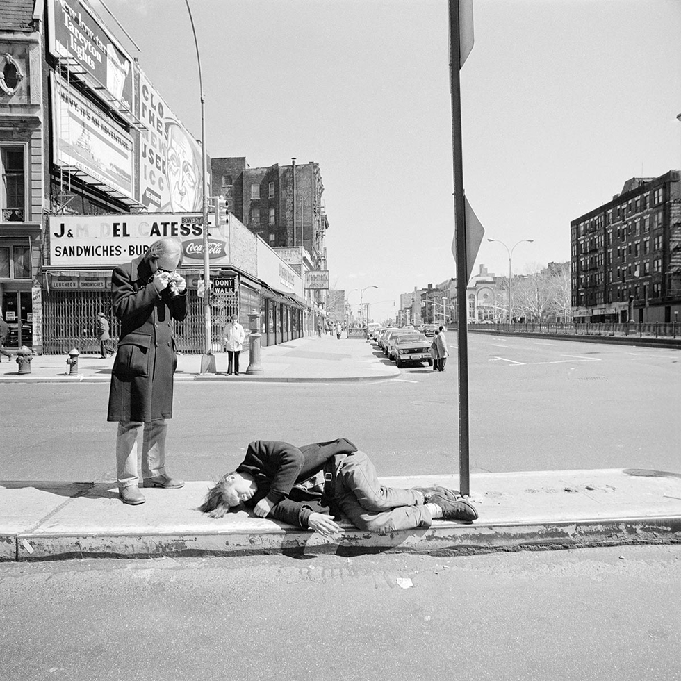 Photographing on the Bowery