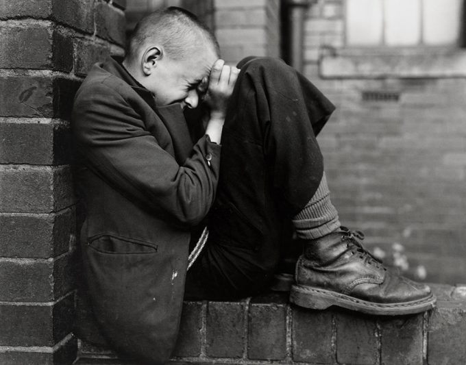 Chris Killip, Youth on a Wall, Jarrow, Tyneside