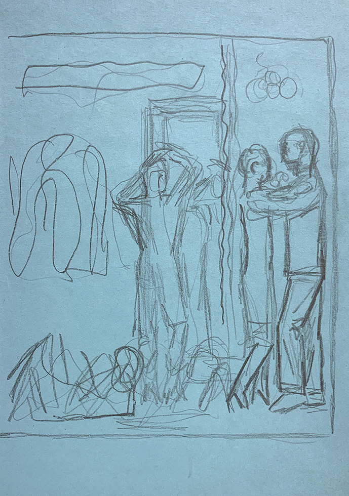 Untitled (Study of Figures)