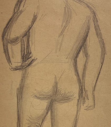 Jared French, Untitled (Male Figure) [Hand on Hip]
