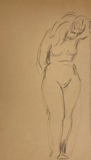Jared French, Untitled (Female Figure) [Nude Woman with Bowed Head]
