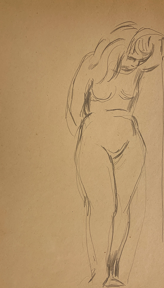 Untitled (Female Figure) [Nude Woman with Bowed Head]