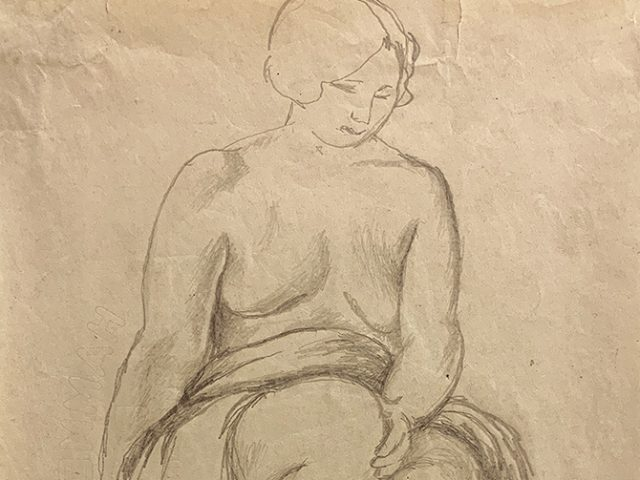 Jared French, Untitled (Female Figure) [Blanket on Lap]