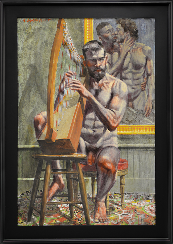 [Bruce Sargeant (1898-1938)] Practicing the Harp