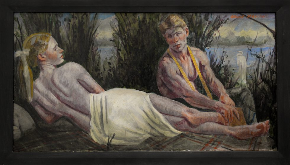 [Bruce Sargeant (1898-1938)] Young Lovers on the Riverbank