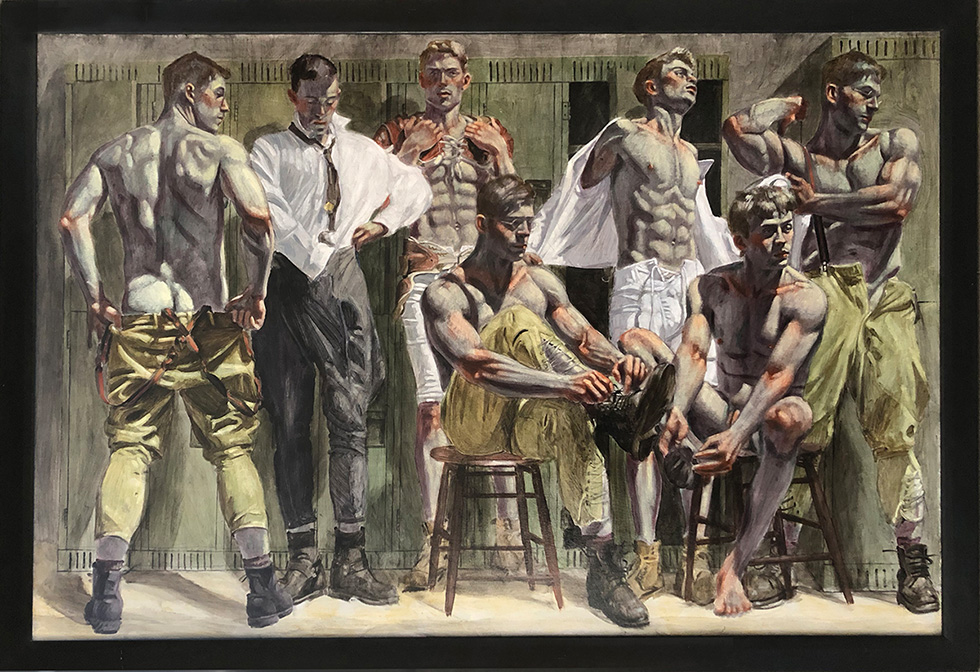 [Bruce Sargeant (1898-1938)] Locker Room Scene—Charlie in Three States of Undress