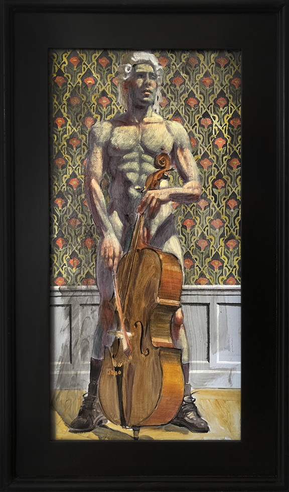 [Bruce Sargeant (1898-1938)] Cello Player in Powdered Peruke