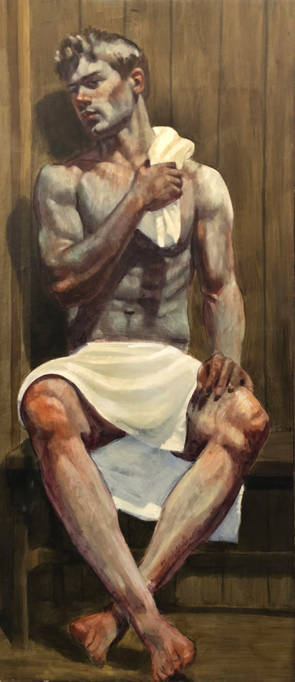 [Bruce Sargeant (1898-1938)] Single Boy in Sauna