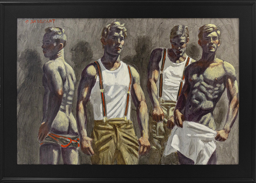 [Bruce Sargeant (1898-1938)] Four Athletes Casting Shadows on a Blank Wall