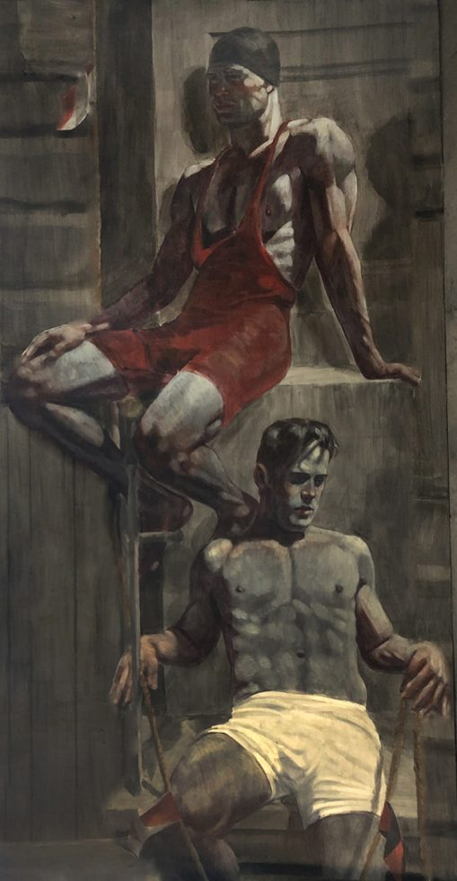 [Bruce Sargeant (1898-1938)] Two Relaxing Swimmers