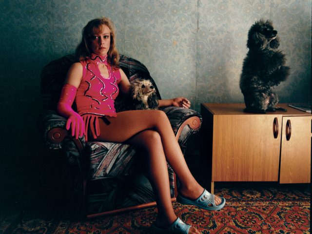 Michal Chelbin, Lena with her poodles, Russia